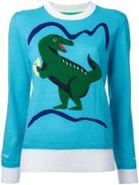 Muveil dinosaur intarsia jumper - women - Wool - 40