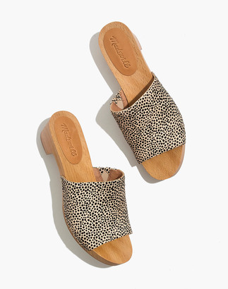 Madewell The Evelyn Slide Clog in Spotted Calf Hair