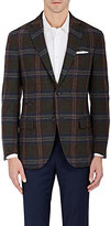 Luciano Barbera MEN'S PLAID WOOL TWO-BUTTON SPORTCOAT