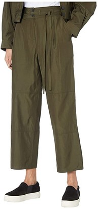 Jason Wu Cropped Workear Pants (Military Green) Women's Casual Pants