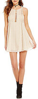 Free People Wherever You Go Sleeveless Emboridered Lace Dress