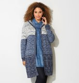 Avenue Marled Colorblock Hooded Duster