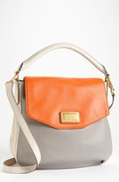 Marc by Marc Jacobs Leather Flap Hobo Orange Multi