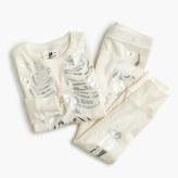J.Crew Girls' pajama set in metallic skeleton