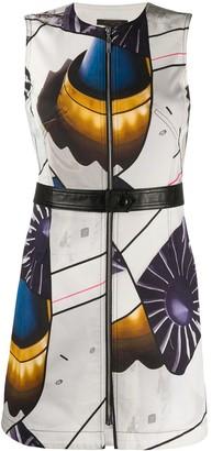 Louis Vuitton Futuristic Print Mini Dress