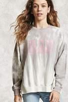 Forever 21 Bad Graphic Tie-Dye Sweatshirt