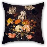 slimmingpiggy Cushion Cases Of Oil Painting Marrel, Jacob - Still-Life With Flowers For Family Dance Room Car Seat Kids Outdoor Lover(twice Sides)