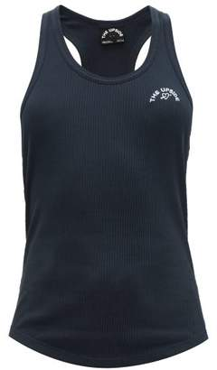 The Upside Logo-embroidered Ribbed Cotton-jersey Tank Top - Womens - Indigo