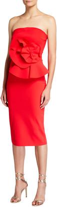 Chiara Boni Hebe Strapless Embellished Jersey Dress