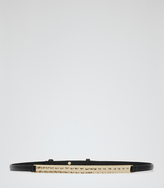 Reiss Pascalle SKINNY LEATHER BELT