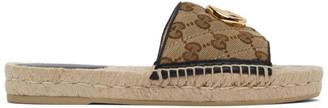 Gucci Beige GG Espadrille Sandals
