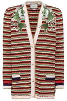 Gucci Appliquéd wool-blend cardigan