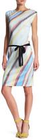 Komarov A-Line Belted Dress