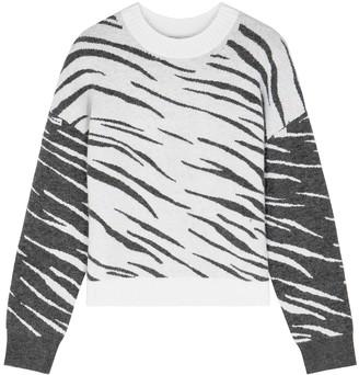 Rails Lana Tiger-print Fine-knit Jumper