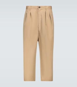 Comme des Garçons Homme Gabardine cotton cropped pants
