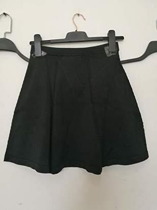 Peplum Pointe Women's Hight Waisted Stretchy Flared Causal Mini Skater Skirt(