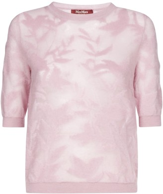 Max Mara Sheer Floral Top