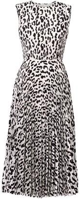 Jason Wu Collection Leopard-Print Pleated Dress