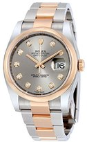 Rolex Datejust Steel and 18K Everose Gold Oyster Men's Watch 116201GYDO