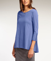 Bluebell Ruched Hi-Low Organic Tee