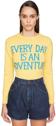 Alberta Ferretti Fitted Cashmere Knit Sweater