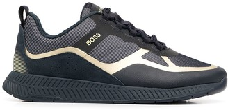 HUGO BOSS Lace-Up Leather Trainers