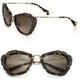 Miu Miu Embellished 55MM Cat's-Eye Sunglasses