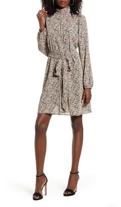 Vero Moda Josephine Belted Long Sleeve Dress
