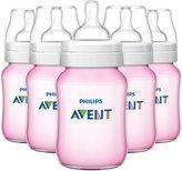 Avent Naturally BPA Free Classic Polypropylene Bottles - Pink - 9 oz - 5 ct