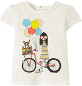 Little Marc Jacobs Tee-Shirt Miss Marc With Bike (Baby) - Off White-18 Months