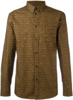 Givenchy logo print shirt - men - Cotton - 39