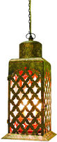 One Kings Lane Moroccan Cut-Out Chandelier, Gold