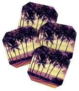 Deny Designs Deb Haugen Crozier Sunset Coaster Set - Light Gold