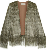 Rachel Zoe Isla Metallic Fringed Jacket - large