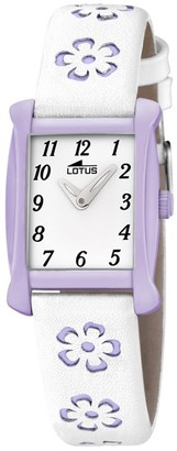 Lotus Analog Quartz Watch with Real Leather Strap 18255/4