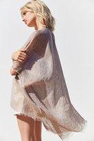 Urban Outfitters Yarn Dyed Linen Ruana Kimono
