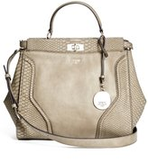 GUESS Georgie Python-Embossed Satchel