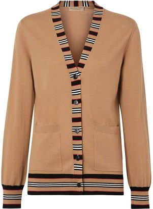 Burberry Icon Stripe Detail cardigan