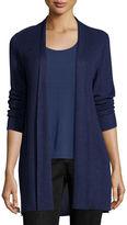 Eileen Fisher Sleek Ribbed Long Cardigan