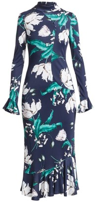 Erdem Alta Floral Bell Sleeve Midi Dress