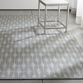 Crate & Barrel Aldo Dove Grey Indoor-Outdoor Rug