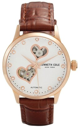 Kenneth Cole KC50984023 Skeleton Automatic Ladies Rose Gold