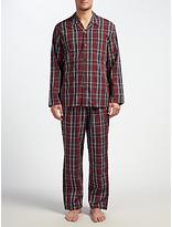 John Lewis Poplin Check Pyjamas, Red