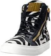 Giuseppe Zanotti Homme Men's Pony Hair Fashion Sneakers Shoes