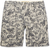 Incotex - Printed Linen And Cotton-blend Shorts
