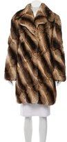 J. Mendel Chinchilla Fur Knee-Length Coat