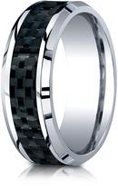 Ice Cobalt 8mm Comfort-Fit Carbon Fiber Inlay Design Ring