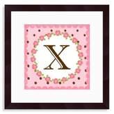 "Bed Bath & Beyond Monogram Rose Initial ""X"" Wall Art"