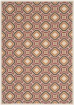 Safavieh VER089-0313-8 Veranda Collection Indoor/Outdoor Area Rug, 8-Feet by 11-Feet 2-Inch, Cream and Red