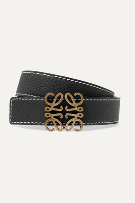 Loewe Textured-leather Belt - Black